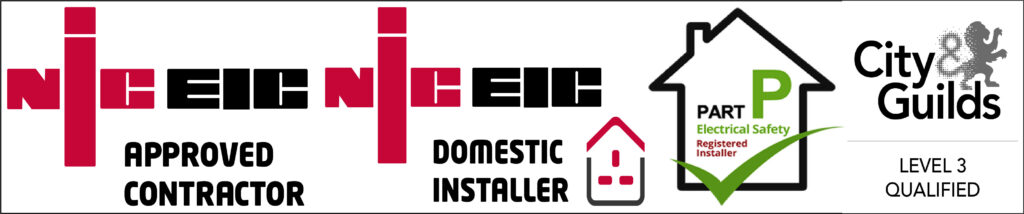 Electrician Yeovil. S&J Sanders Electrical Ltd NICEIC Approved – Part-P Compliant Contractors. Domestic, Commercial & EICR Services - Accreditation Bar