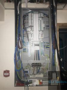 3 Phase Distribution Board work in progress - S&J Sanders Electrical Ltd Local Electrician Yeovil