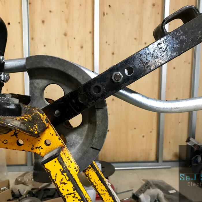 Bending Steel Conduit in Yeovil, Somerset - S&J Sanders Electrical Ltd Electrician in Yeovil
