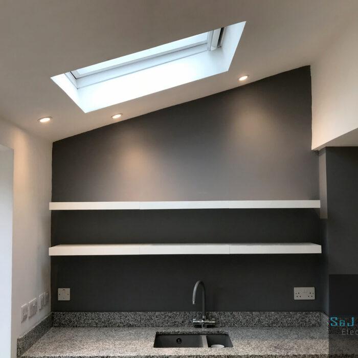 Full kitchen upgrade, power & lighting in Yeovil, Somerset S&J Sanders Electrical Ltd Electrician in Yeovil
