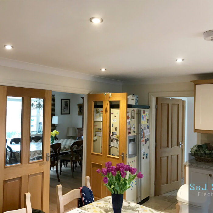 Kitchen LED down light upgrade in Thornford - S&J Sanders Electrical Ltd Electrician in Yeovil